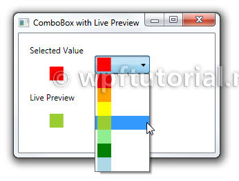 WPF Tutorial | LivePreview ComboBox