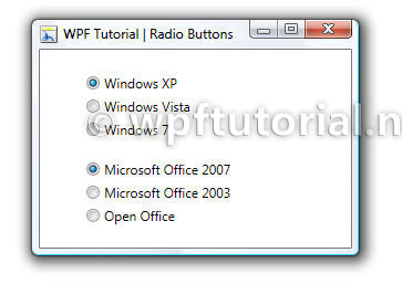 WPF Tutorial | RadioButton